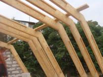 Деревянные двутавровые балки перекрытия. | фото 5 из 6
