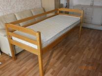 Кровать деревянная 190х80 с матрацем