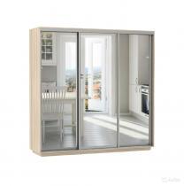 Шкаф-купе «Лухтейн» с зеркальными дверьми