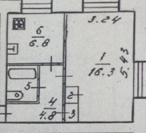 1-комнатную в поселке Федотово.