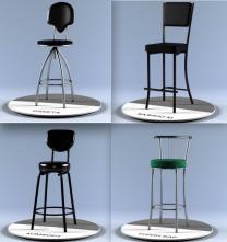 Барные стулья и табуреты, готовые и на заказ.