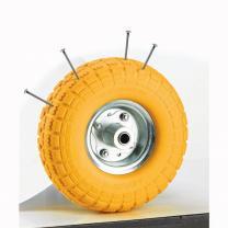 Колесо 260 мм с подшипником, пенополиуретановое бескамерное колесо для строительных тачек и тележек