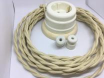 Ретро провод и изоляторы керамические