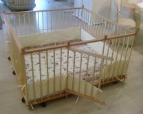 Большой детский деревянный манеж 1.5х1.5м с калиткой   фото 5 из 5