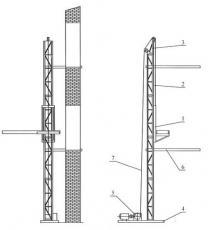 Подъёмник мачтовый строительный ПМС-500, ПМС-750, ПМС-1000.  Кран стреловой переставной КЛ-3, КЛ-3-1 (на колёсах) типа «Пионер»