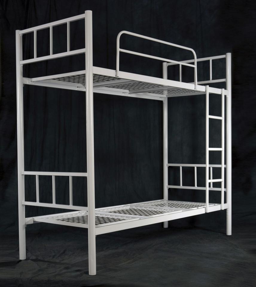 Кровати для санаториев, кровати металлические с деревянной спинкой | фото 1 из 6