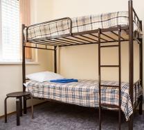 Кровати двухъярусные, односпальные на металлокаркасе, для хостелов, гостиниц,рабочих   фото 3 из 6