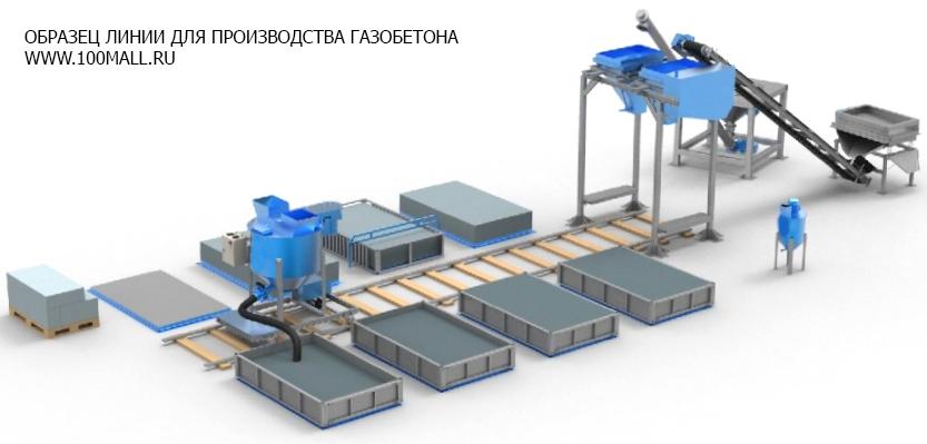 Оборудование для производства газобетона, блоков газобетонных   фото 1 из 3