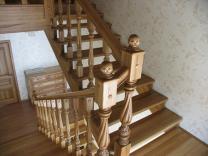 Лестницы деревянные из ясеня и дуба  изготовление на заказ | фото 6 из 6