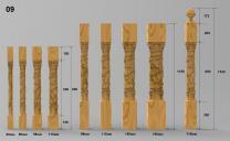 Резные балясины и столбы из ясеня и дуба | фото 5 из 6