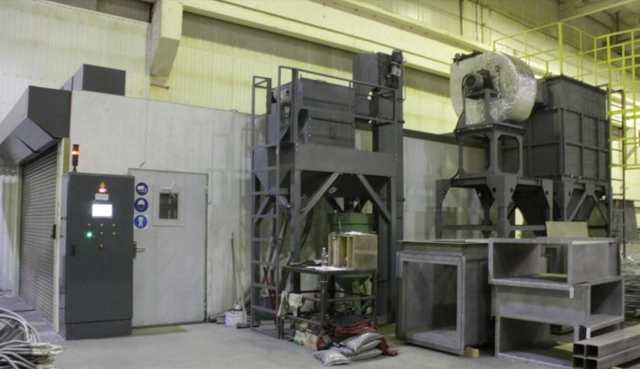 дробеструйная камера очистки металла, металлопроката и трубы   фото 1 из 1