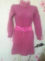 вязанные платья ручного вязания | фото 4 из 6