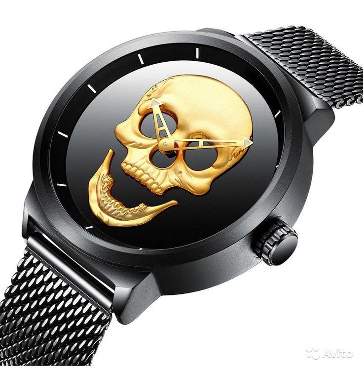 Мужские часы с 3D черепом   фото 1 из 2