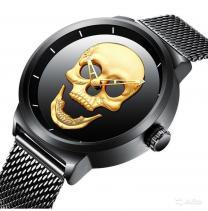 Мужские часы с 3D черепом