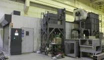дробеструйная камера очистки металла, металлопроката и трубы