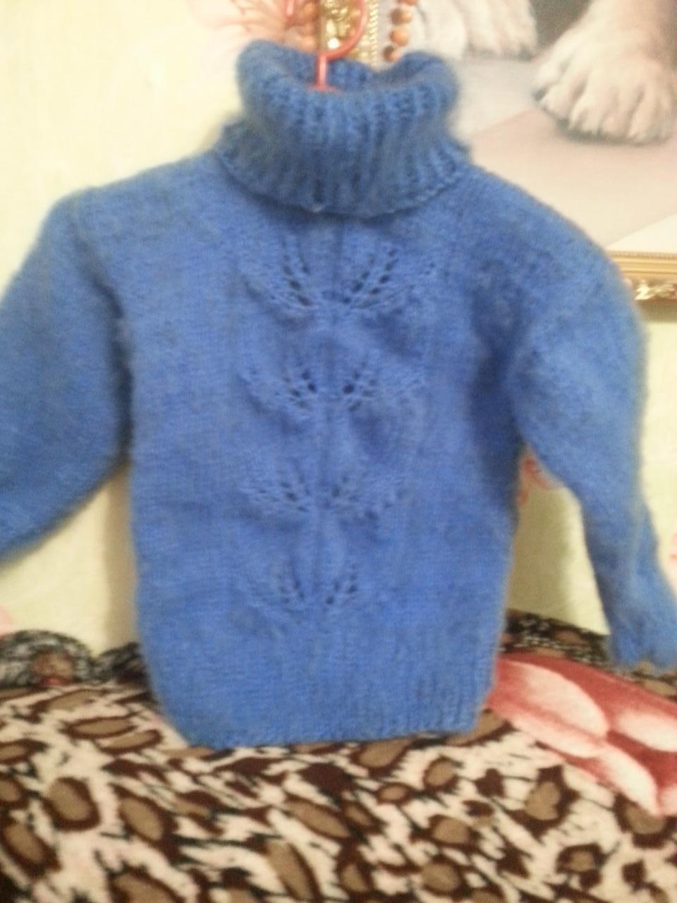 шерстяной пуховый свитер | фото 1 из 2