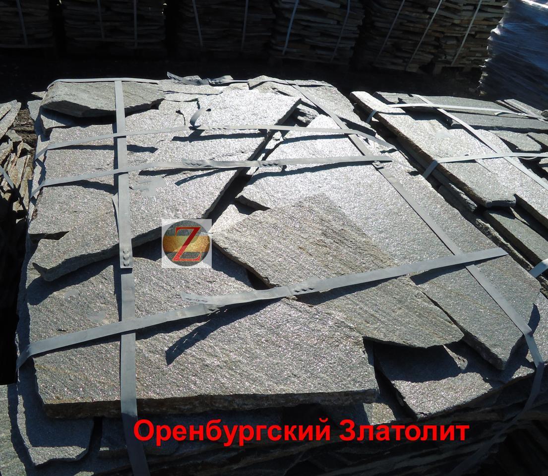 Природный камень-плитняк. Златолит   фото 1 из 4