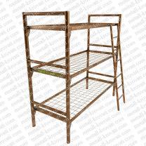 Трехъярусные кровати для хостелов из металла | фото 2 из 6