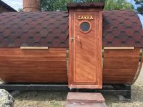 Баня бочка из кавказской липы 4-х метровая