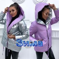 Зимняя куртка двусторонняя Зефирка с бесплатной доставкой | фото 4 из 5