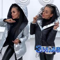 Зимняя куртка двусторонняя Зефирка с бесплатной доставкой | фото 2 из 5
