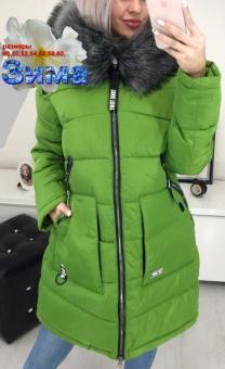 Зимняя длинная куртка большого размера    фото 4 из 5