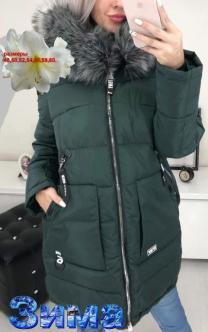 Зимняя длинная куртка большого размера    фото 3 из 5