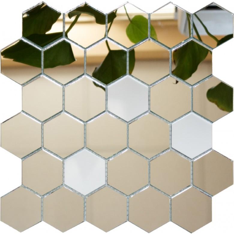 мозаика зеркальная соты (шестигранник)  | фото 1 из 5