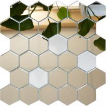 мозаика зеркальная соты (шестигранник)
