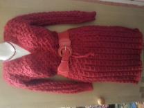 вязанное теплое мягкое платье