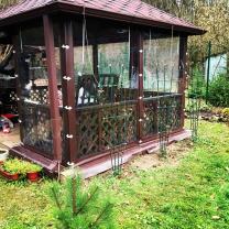 Mягкие окна для беседки, веранды, террасы   фото 5 из 6