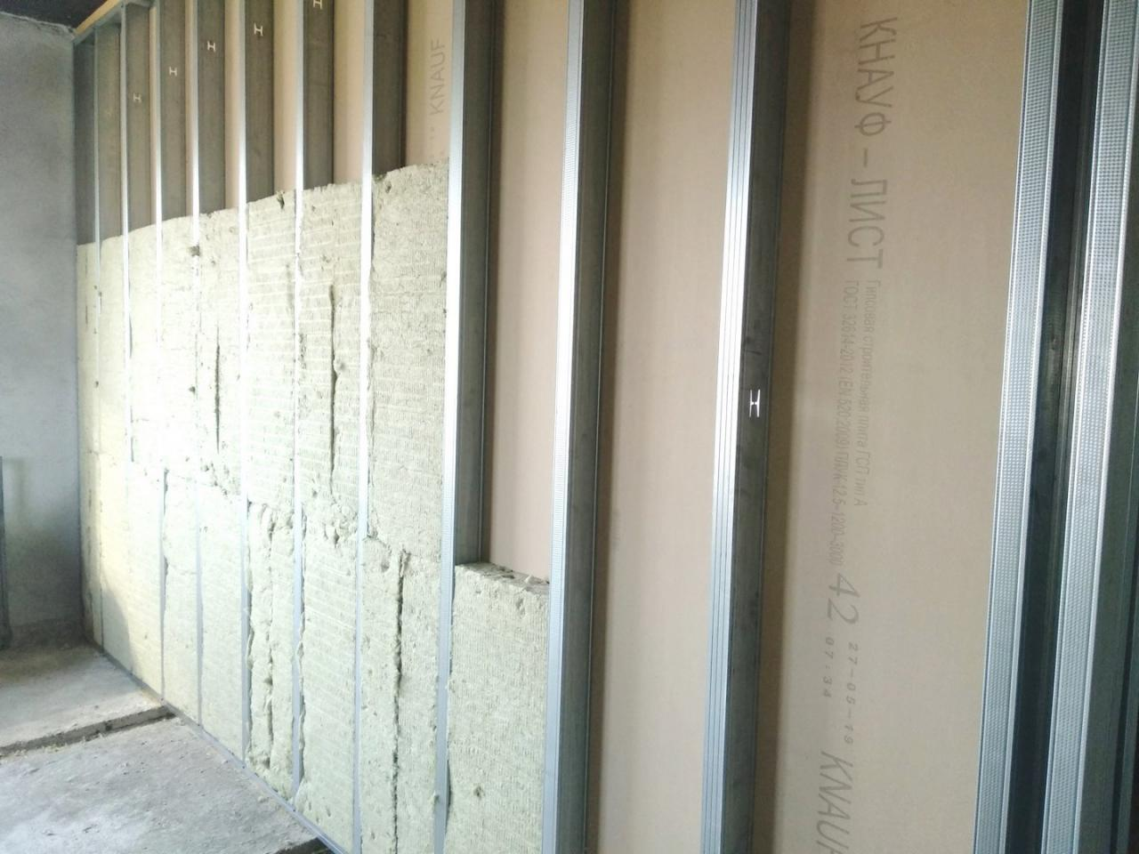 Монтаж ГКЛ на стены, потолки. Монтаж перегородки из гипсокартона  в Красноярске. | фото 1 из 6