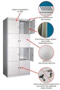Шкаф металлический для хранения личных вещей | фото 2 из 3