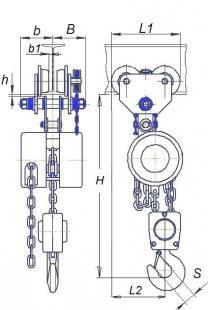 Тормоз колодочный ТЭ-1.01.15.000(472314) к электроталям. | фото 3 из 4