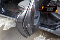 Накладки на внутренние пороги дверей Hyundai Solaris седан 2017-   фото 3 из 5