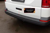 Накладка на задний бампер Volkswagen Transporter (T6) 2015- | фото 2 из 6