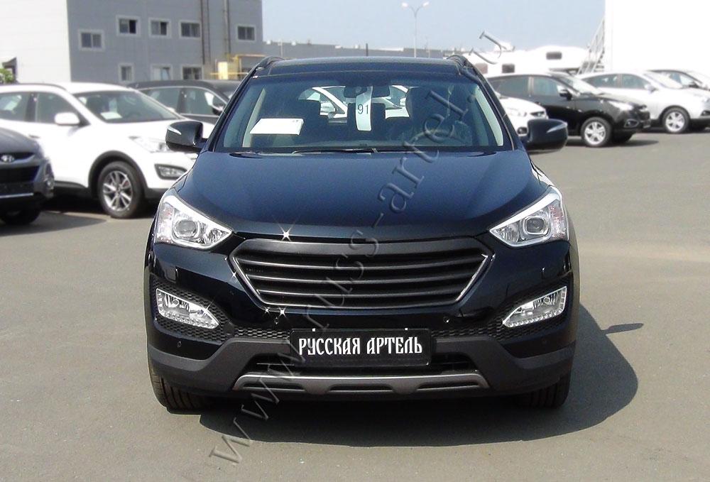 Решетка радиатора на Hyundai Santa Fe 2013-2015   фото 1 из 4