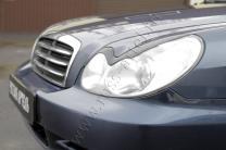 Накладки на передние фары (реснички) Hyundai Sonata 2002-2009