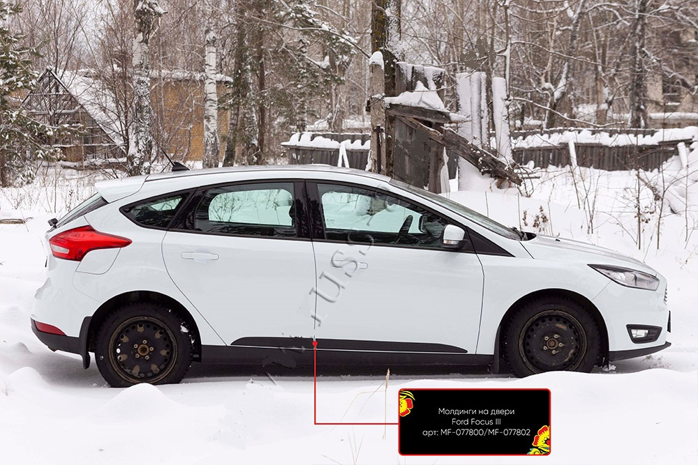 Молдинги на двери Ford Focus III 2014- | фото 1 из 5