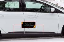 Молдинги на двери Ford Focus III 2014- | фото 2 из 5