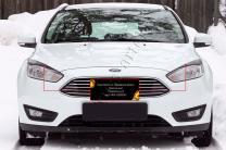 Накладки на передние фары (реснички) Ford Focus III 2014-