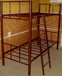 Кровати двухъярусные, односпальные на металлокаркасе для хостелов, гостиниц, рабочих   фото 2 из 6