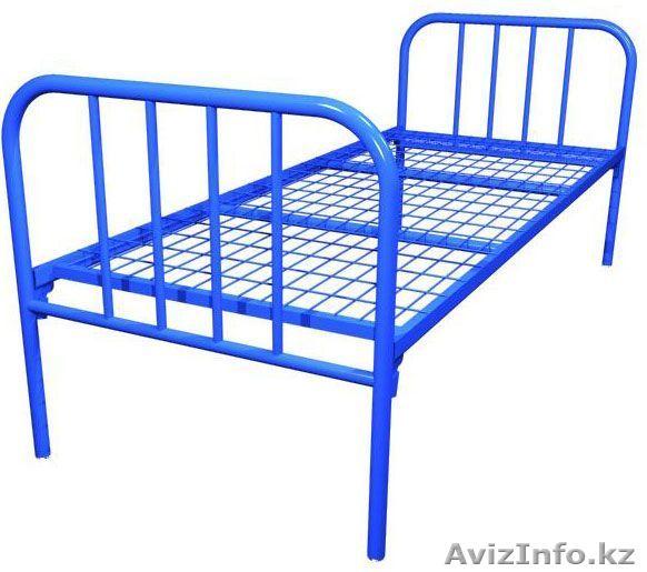 Металлические кровати крупным и мелким оптом, кровати для бытовок   фото 1 из 6
