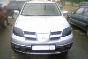 Защита фар для Mitsubishi Outlander 2000-2006   фото 1 из 4