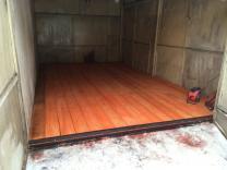 Обшивка гаража вагонкой, установка калитки в ворота   фото 4 из 4