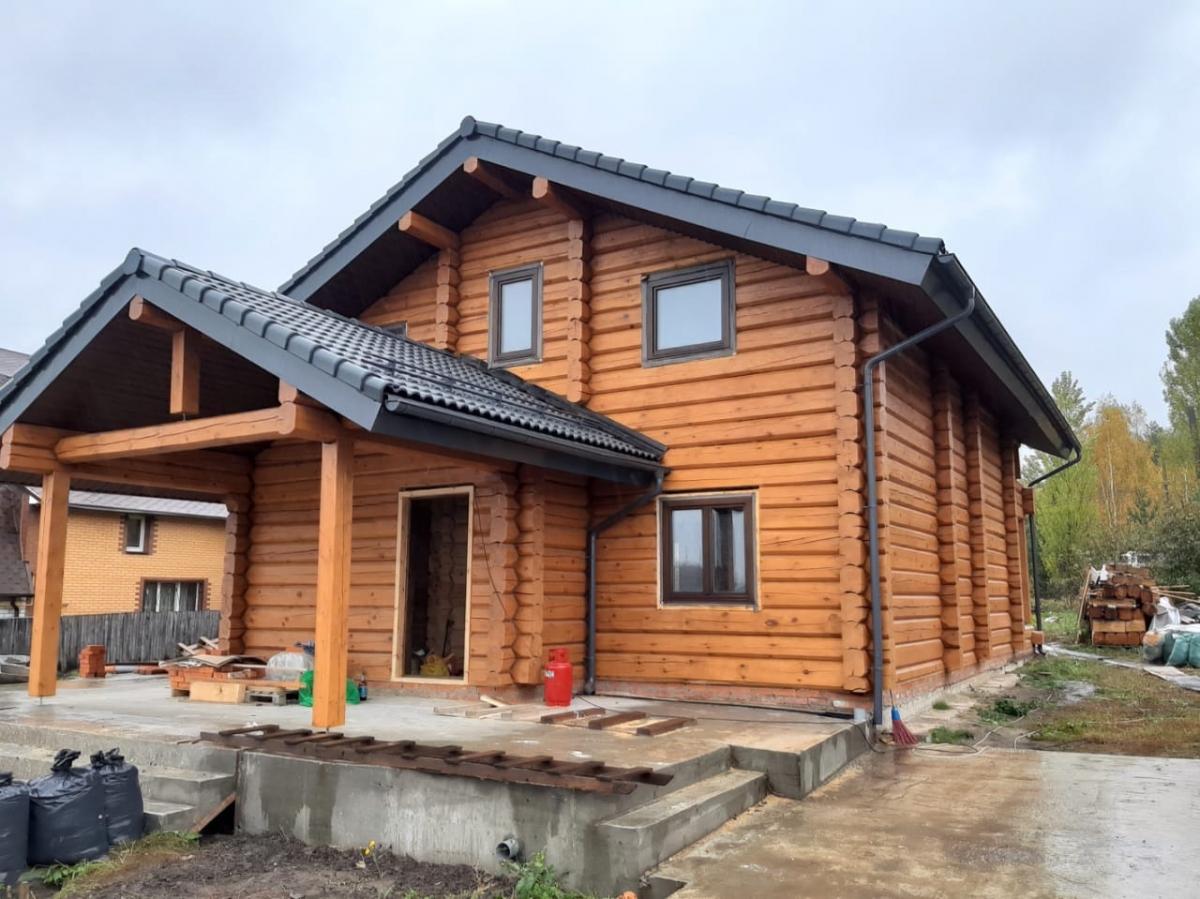 Строительство домов ручной рубки по норвежской технологии в Москве и области  | фото 1 из 4