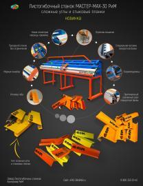 Листогибочный ручной станок МАСТЕР-MAX-30 РиМ с отрезной машинкой | фото 2 из 2