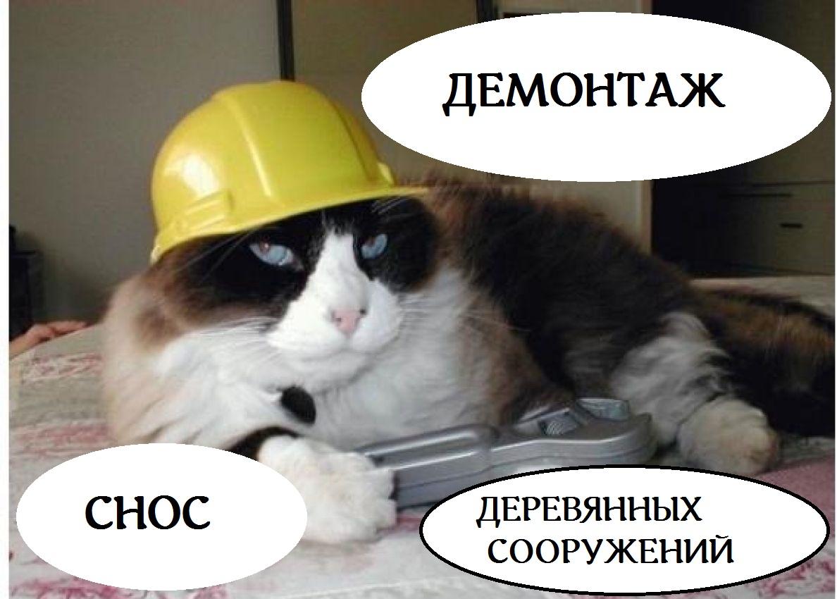 Русская бригада. Демонтаж, снос деревянных домов, дач.   фото 1 из 1