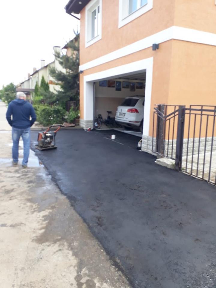 Дорожно строительные работы. Укладка асфальта | фото 1 из 4