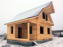 Недорогие дома из строганого бруса
